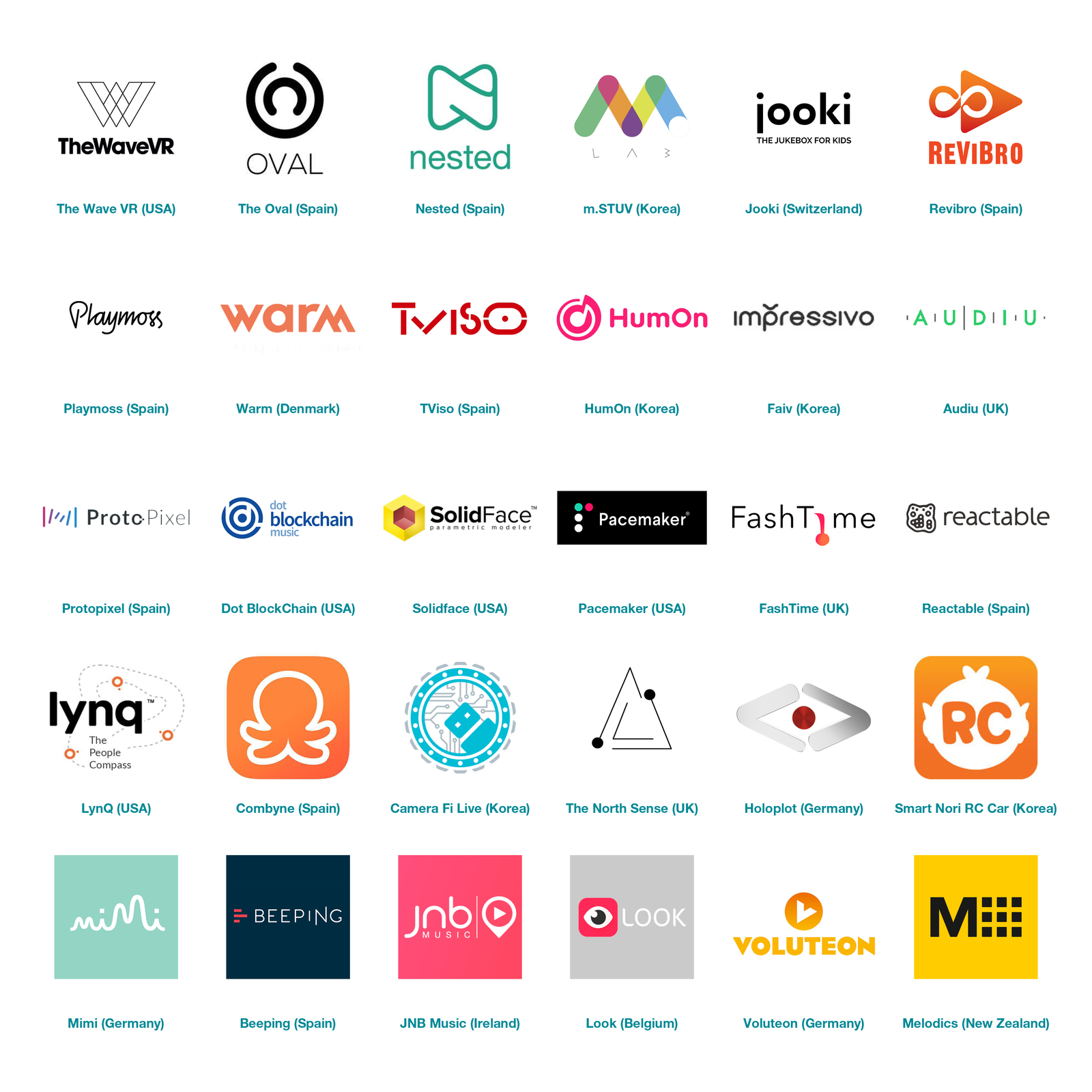 The Chosen 30 Startups